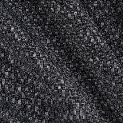 Lycra Spandex Blend Jersey Knit Checkered Charcoal