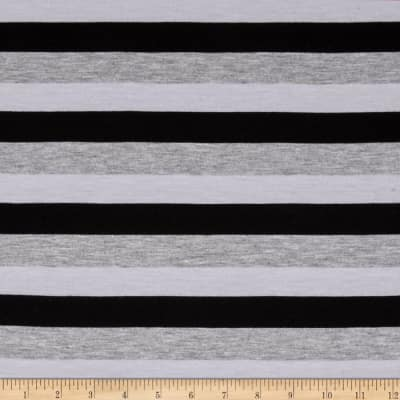 Stripe Jersey Knit White/Gray