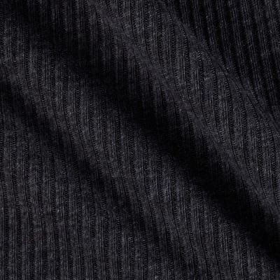 Rib Sweater Knit Dark Heather Grey
