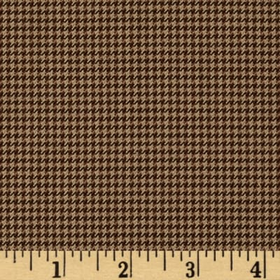 Yarn Dyed Houndstooth Tan/Brown