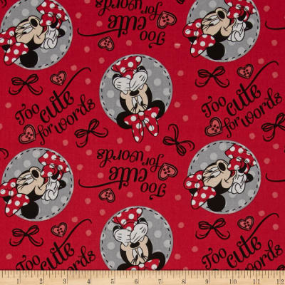 Disney Minnie Too Cute For Words Red