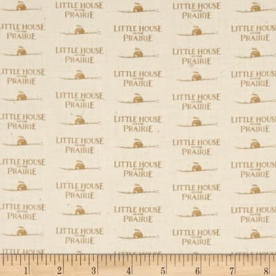 Little House On The Prairie Logo Tan