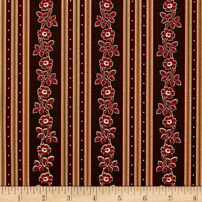 Little House On The Prairie Stripe Brown