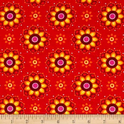 Vibrant Meadow Floral Red