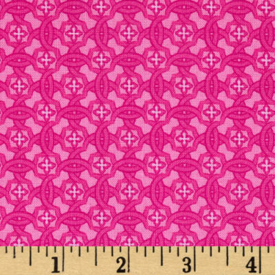 Vibrant Meadow Tonal Floral Pink