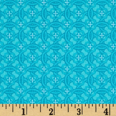 Vibrant Meadow Tonal Floral Turquoise