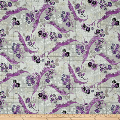 Tracy Porter Ardienne Floral Damask Grey