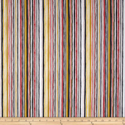 Patch Stripe Multi Gray