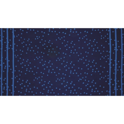 Alison Glass The Blues Batik Double Border Stripe Dot Indigo
