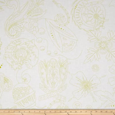 Alison Glass Abacus Carved Flower Green