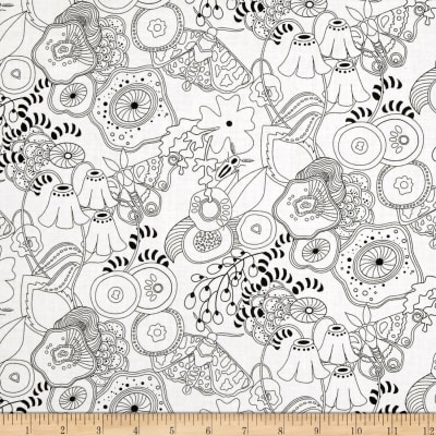 Alison Glass Abacus Grow Flowers Gray