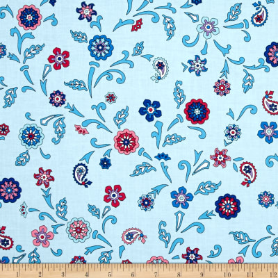 Bombay Large Flower Blue