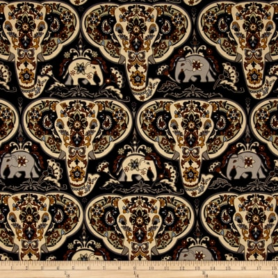 Bombay Elephants Heads Black