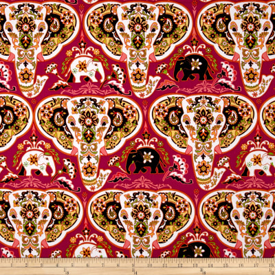Bombay Elephants Heads Pink