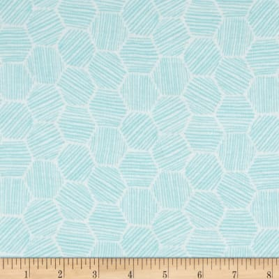Cloud 9 Organics Hatchmarks Interlock Knit Turquoise