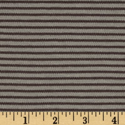 Cloud 9 Organics Stripe Interlock Knit Brown