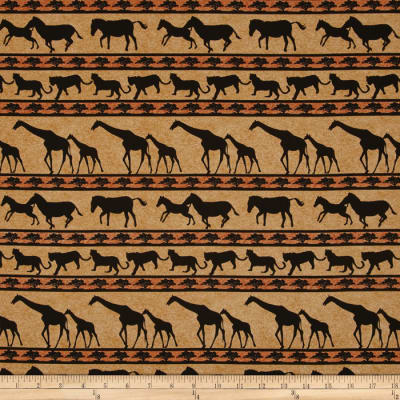 Serengeti Animal Stripe Tan