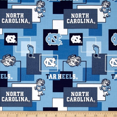 Collegiate Cotton Broadcloth University Of North Carolina Block