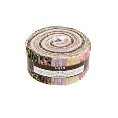 "Kaufman Tuscan Wildflower 2.5"" Roll Up Blossom"