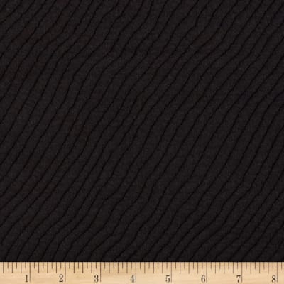 Telio Stretch Knit Waves Quilt Black