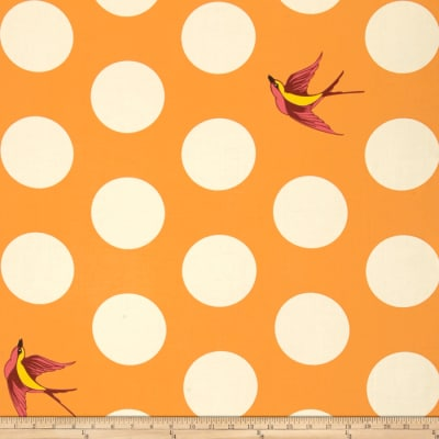 "Tula Pink Free Fall 108"" Wide Quilt Back Creamsicle"