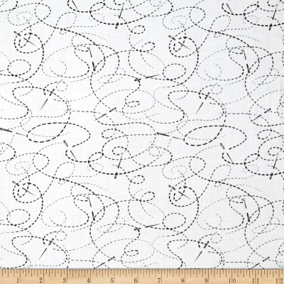 "108"" Wide Quilt Back Needle And Thread White/Black"