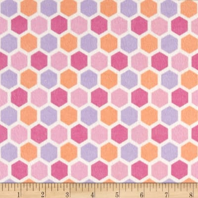Peek-A-Boo Flannel Hexagon Pink