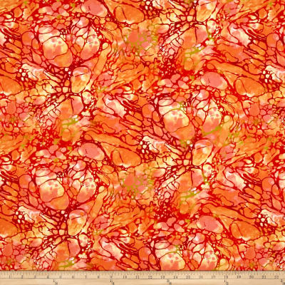 By The Sea Sea Foam Texture Coral Red