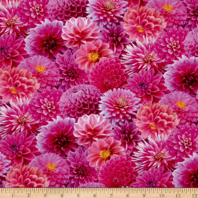 Digital Garden Packed Flower Pink