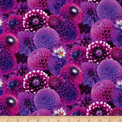 Digital Garden Packed Flower Purple