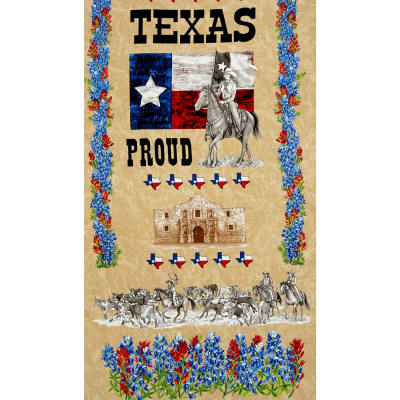 Moda Texas Proud 24 In. Panel Natural