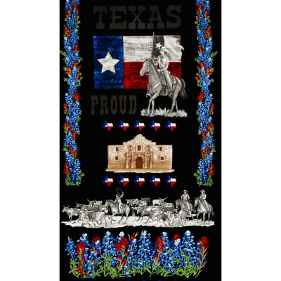 Moda Texas Proud 24 In. Panel Black
