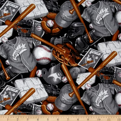 Batter Up! Baseball Accessories Black