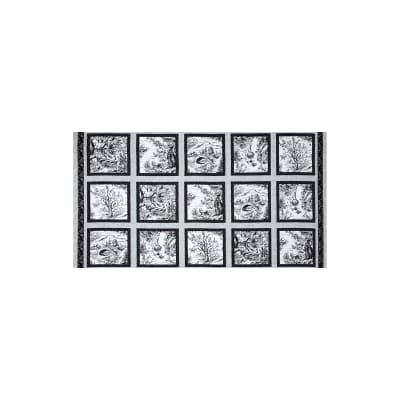Woodland Forest 24 In. Panel Blocks White/Black