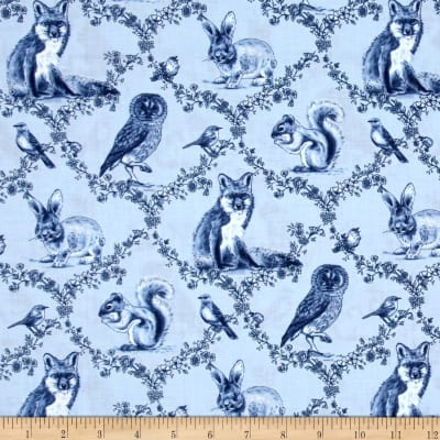 Woodland Forest Woodland Animals Blue