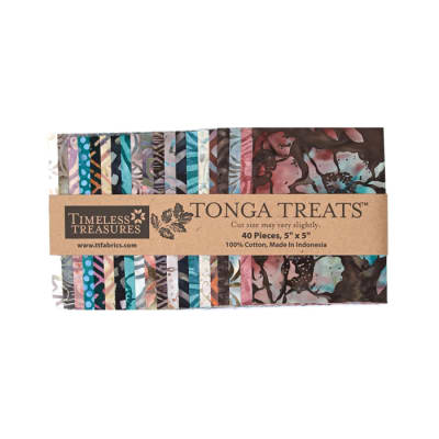 "Timeless Treasures Tonga Treats Batik Topaz 5"" Squares Multi"