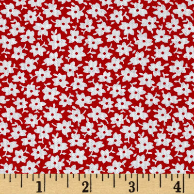 The Little Red Hen Monotone Floral Red