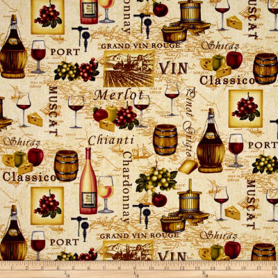 Tuscany Wine Novelty Ecru