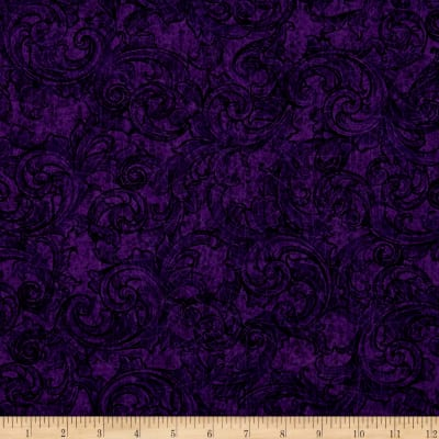Tuscany Scroll Aubergine