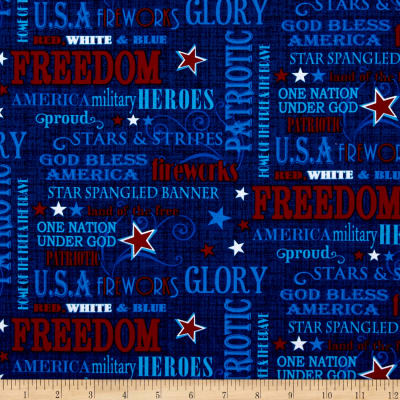 Patriotic Primer Words Navy
