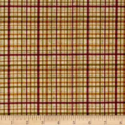 Pet Rescue Plaid Tan/Red