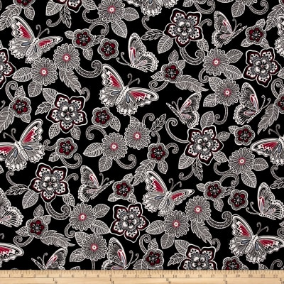 Rendezvous Butterfly Floral Black