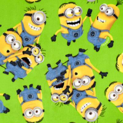 Despicable Me Fleece Minions Allover Green