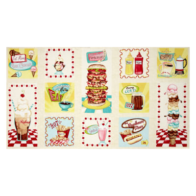 "At the Diner Hot Pad 24"" Panel Multi"