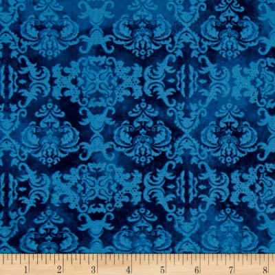 Feather Your Nest Damask Blue