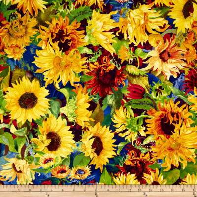Flowers Of The Sun Medium Packed Sunflowers Gold/Multi