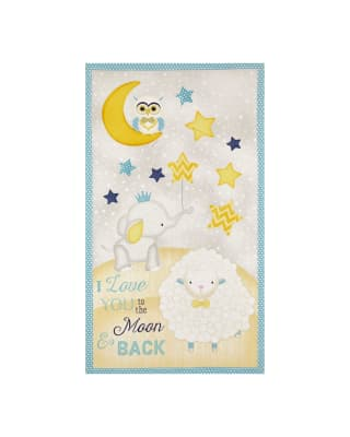 "To The Moon & Back 24"" Panel Multi"
