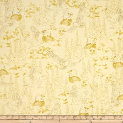 Majestic Bald Eagles Toile Tan