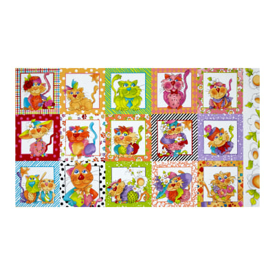 Happy Cats Patches 24 In. Panel Multi