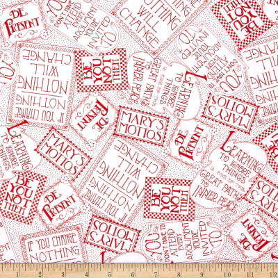 Mary Engelbright Mottos To Live By Mary's Mottos Tossed Red